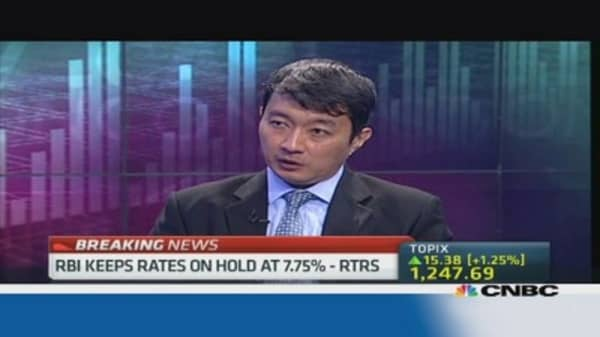 Was rupee's stabilization behind RBI's decision?