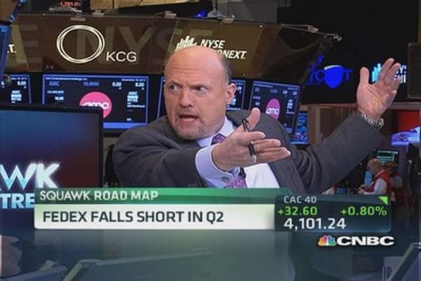 Cramer: Give me a break, FedEx is delivering