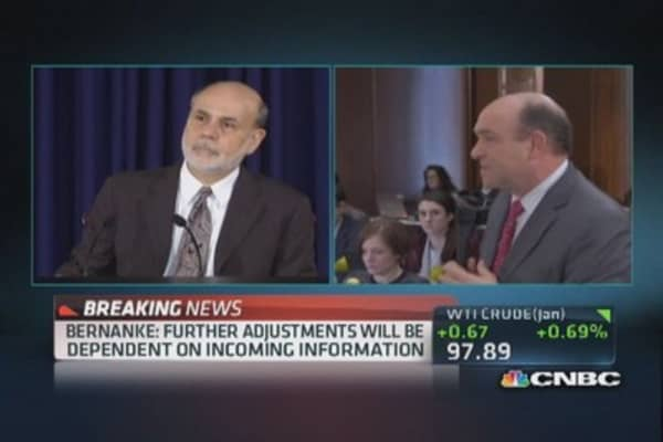 Bernanke: Will remain data-dependent