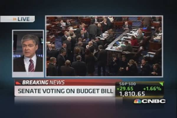 Senate votes on budget deal