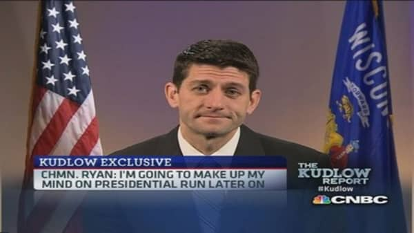 Chmn. Ryan: Want to focus on Obamacare and tax reform