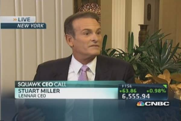 Housing coming back slowly but surely: Lennar CEO