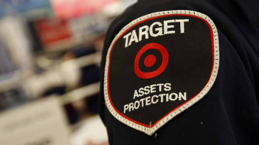 A Target Assets Protection team member inside the Target Store in Torrance, California.