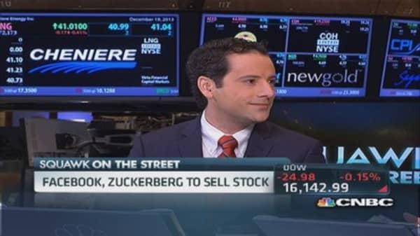 Zuckerberg to sell stock