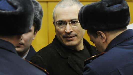 Former Yukos chief Mikhail Khodorkovsky in 2010.