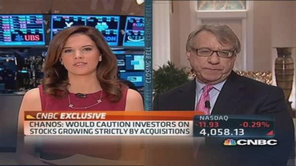 Chanos: US market risks increased dramatically