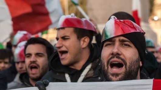 Demonstrators in December