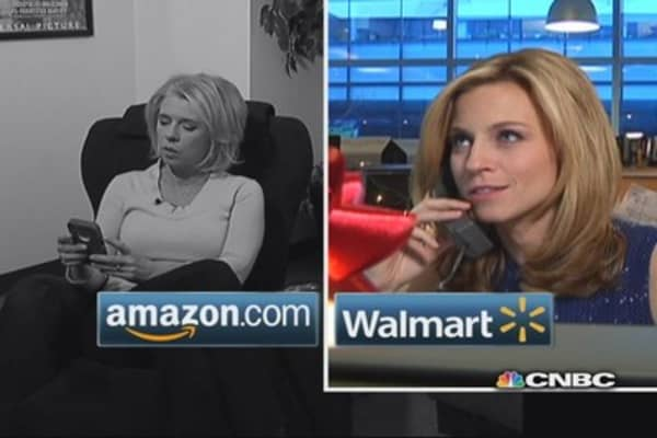 Race to the Gift: Jane's Amazon vs. Courtney's Wal-Mart