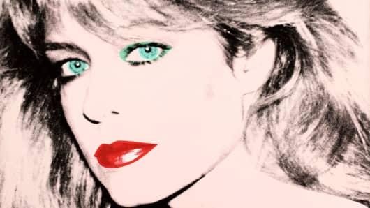 "Andy Warhol's painting of ""Farrah Fawcett,"" 1980."