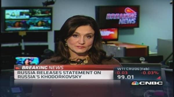 Russia's Khodorkovsky releases statement