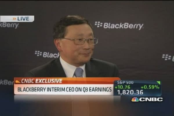 BlackBerry CEO Chen: We have very high quality devices