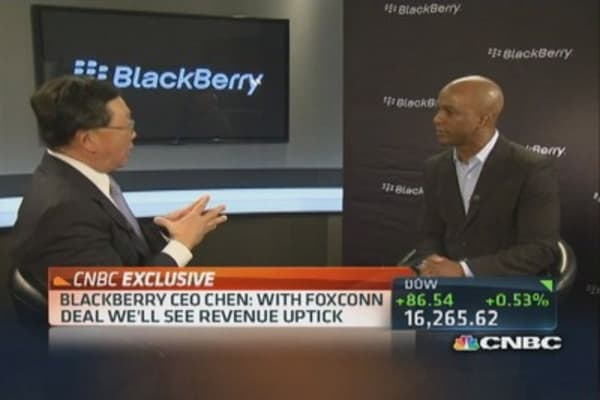 BlackBerry CEO: Foxconn taking on a lot of risk