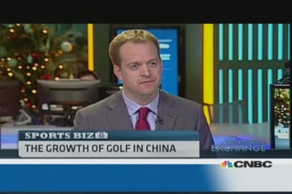The growth of golf in China