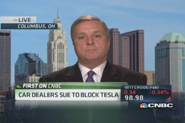 Car dealers sue to block Tesla