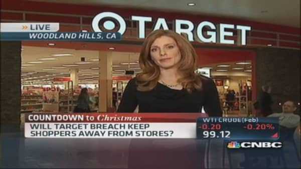 Customers afraid of Target?