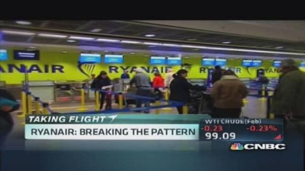 Ryanair breaking the trend