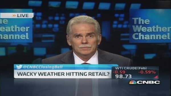 Wacky weather impacts retail