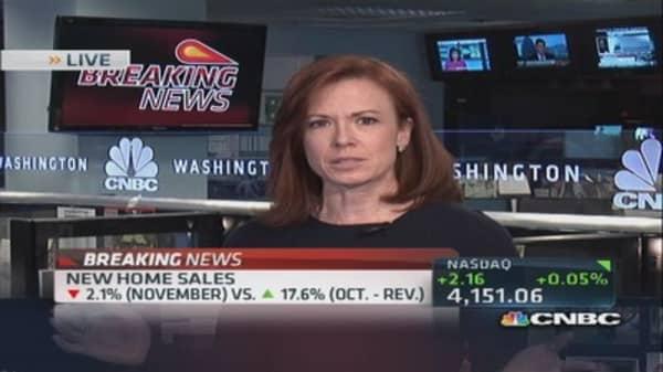 November new home sales down 2.1%