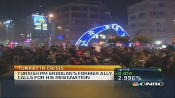 Turkey protests Prime Minister