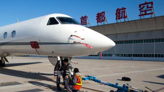 Gulfstream jet in Beijing, China