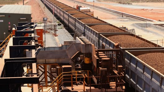 Fortescue Metals Group's Herb Elliott Port in Port Hedland in the Pilbara region, Western Australia.
