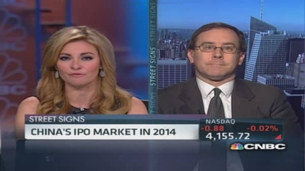 China's hot IPO market