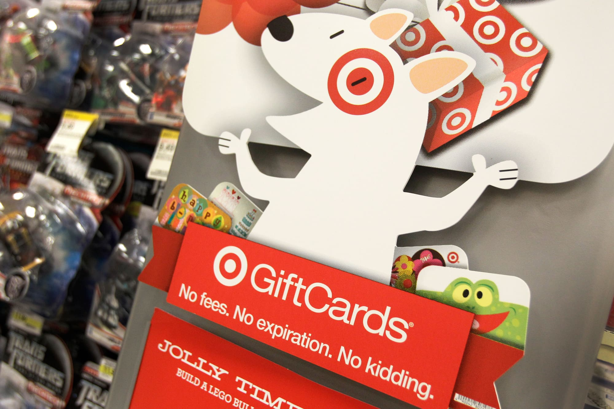 Some Target holiday gift cards were not activated