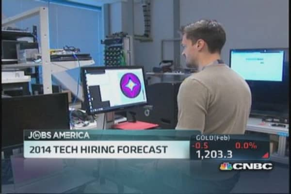 Big year for high tech hiring in 2014