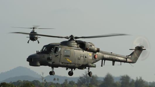 AgustaWestland Lynx helicopters.