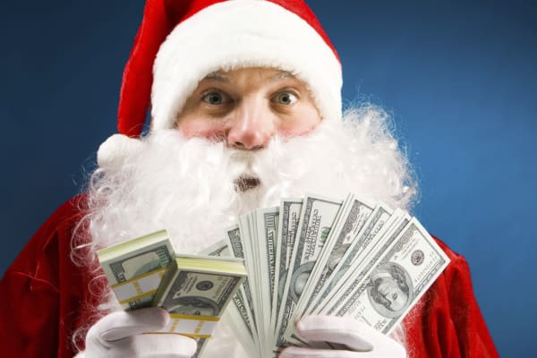 Santa Claus and money
