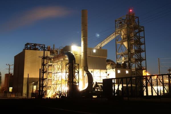 US Gypsum (USG) dry wall board plant at Plaster City, near El Centro, Calif.