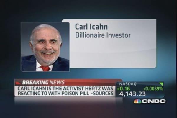 Icahn activist behind Hertz 'poison pill' reaction