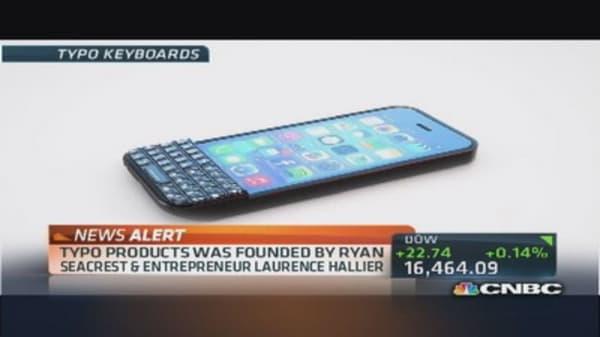 BlackBerry sues keyboard maker Typo