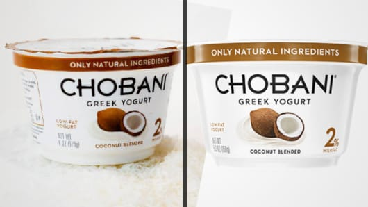 Chobani yogurt sizes changed for 6oz. to 5.3oz.