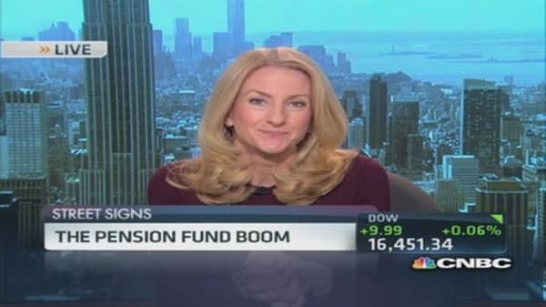 Pension fund boom