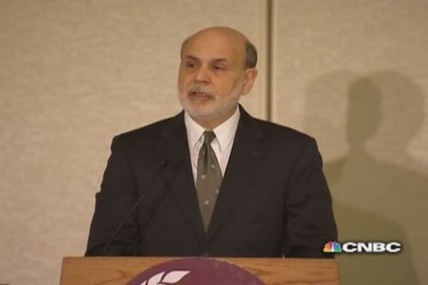 Bernanke: No 'diminution' of commitment to low rates