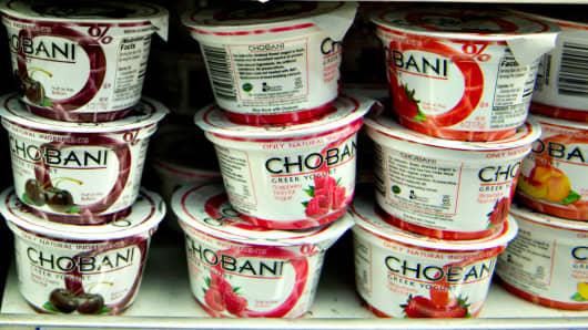Chobani Inc. greek yogurt at a supermarket in Princeton, Illinois.