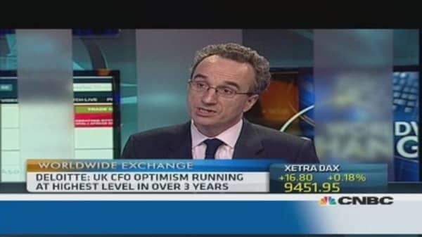 UK CFOs ready to spend more: Deloitte