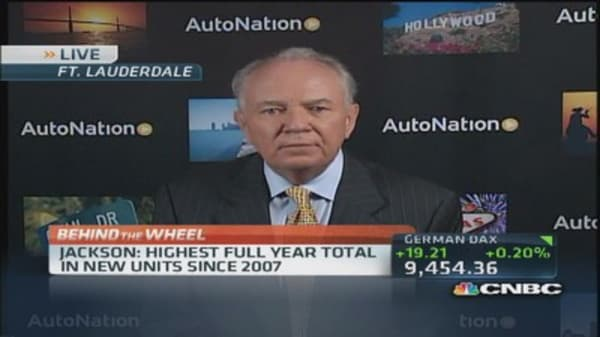 AutoNation December sales up 6% vs industry 1%
