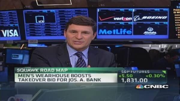 Men's Wearhouse boosts Jos. A. Bank bid