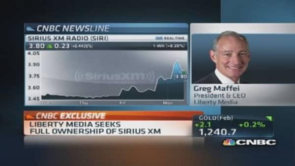 Liberty Media seeks full ownership of Sirius XM