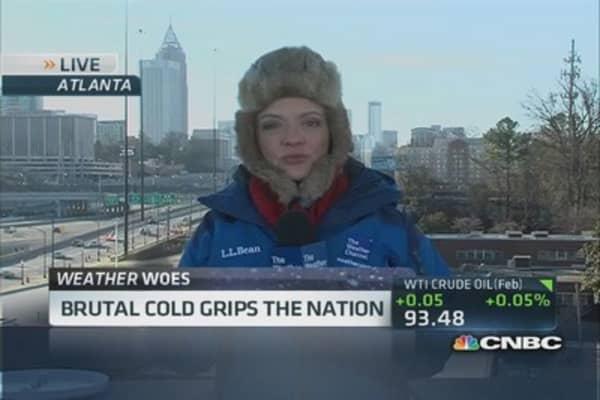 Brutal cold grips the nation