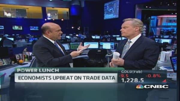 Economists upbeat on trade data