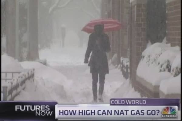 Cold weather heats up nat gas