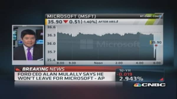 Mulally: I won't leave for Microsoft