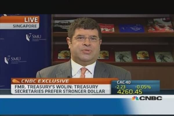 Treasury always wants a strong dollar: Wolin