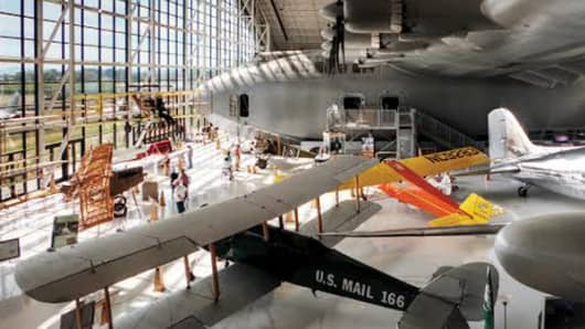A close-up of the Spruce Goose
