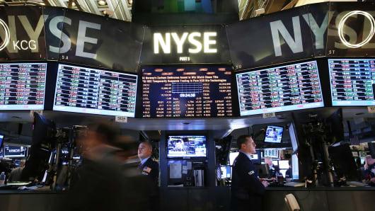 Floor of the New York Stock Exchange.