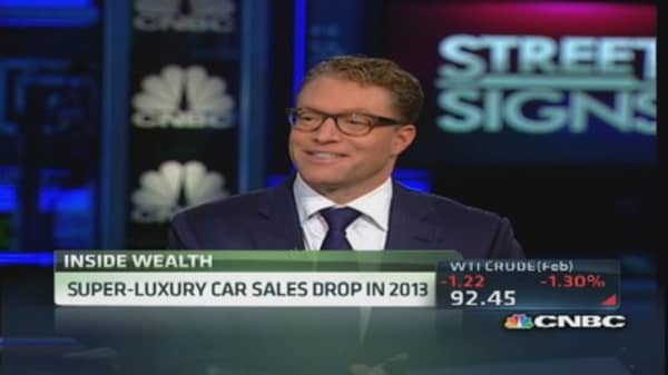 Worldwide sales decline for 'super-cars'