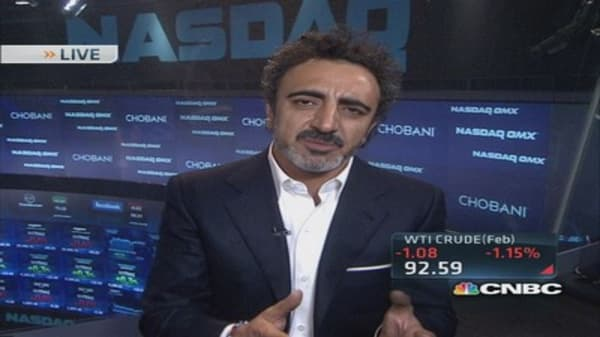 Chobani CEO: Cannot say any milk is GMO-free